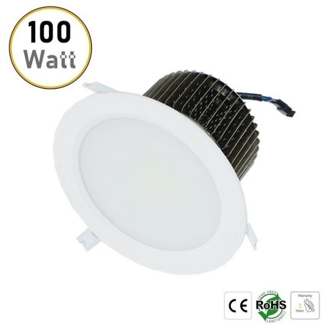 100W recessed LED downlight