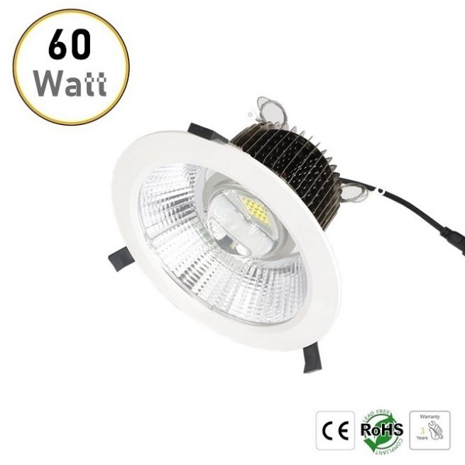 60W recessed LED downlight
