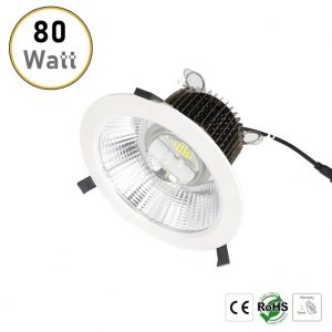 80W recessed LED downlight