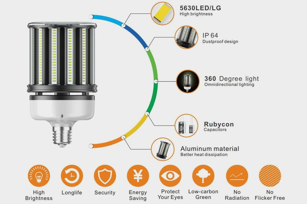 E39 100W LED corn lamp