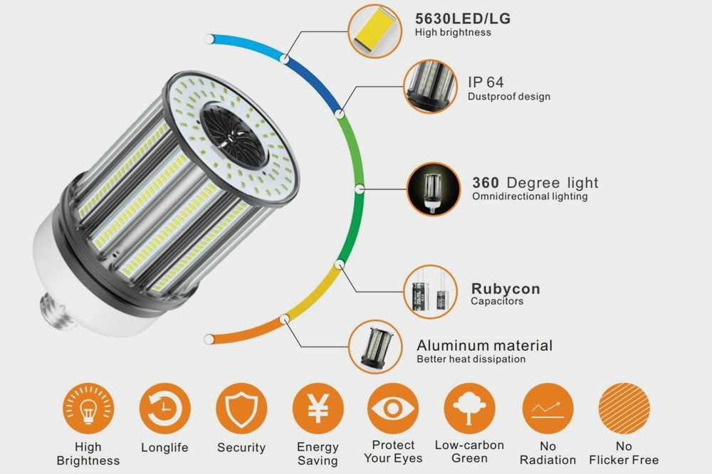 E39 120W LED corn lamp