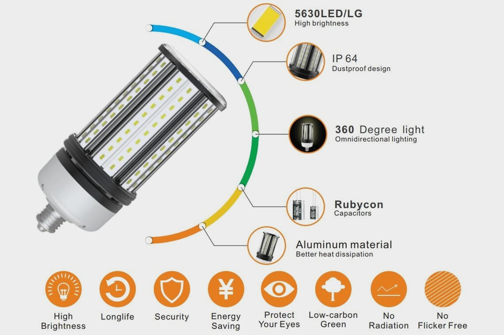IP64 45W LED corn bulb