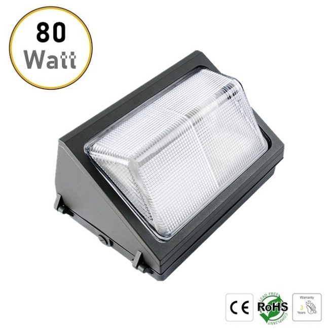 80W LED wall pack light
