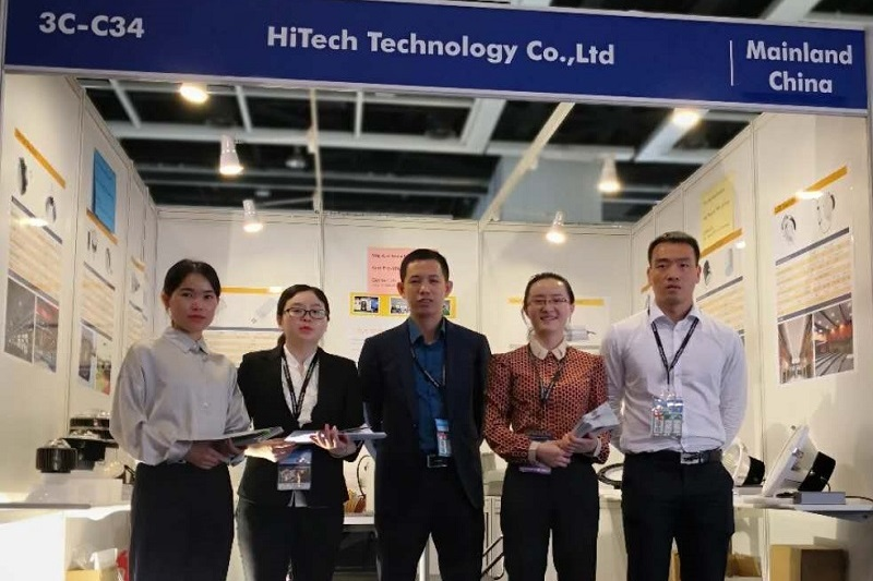 HiTECH LED company exhibitors take a group photo