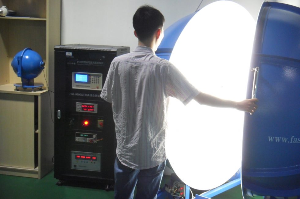 LED luminaires are being tested