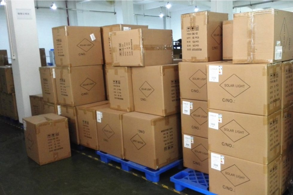 Pre-shipment warehouse