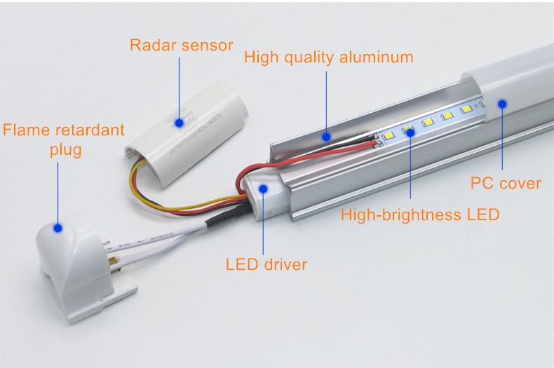 T8 radar sensor LED tube-1